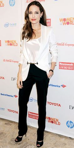 Angelina Jolie's Best Red Carpet Looks Ever - In Gucci, 2012 from #InStyle