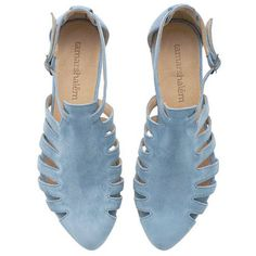 Final Light Blue Leather Handmade Flat Sandals Alice Sandals by Tamar Shalem found on Polyvore featuring polyvore, women's fashion, shoes, sandals, flats, blue, clothing, silver, women's shoes and flat sandals