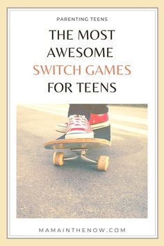 Wondering what to buy for your teen for Christmas?! This list of Nintendo Switch games will definitely guarantee that you get a hug from your teen... or at least a smile! Nintendo Switch games for teens and for family game nights! Teens' favorite Nintendo Switch games! #NintendoSwitch #nintendoswitchgames #Switchgames #VideogamesforTeens #GiftsforTeens #mamainthenow