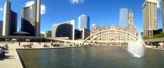 Panorama of Old and New City Hall - Toronto, Ontario -  Photo