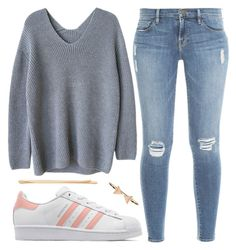 """""""Question: Are my set's boring? :(:"""" by briantaec ❤ liked on Polyvore featuring Frame Denim, adidas Originals, Cara and Accessorize"""
