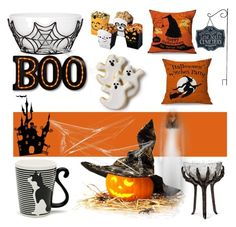 """""""Halloween Party Decor"""" by bklana ❤ liked on Polyvore featuring interior, interiors, interior design, home, home decor, interior decorating, Miya Company and Halloweenparty"""