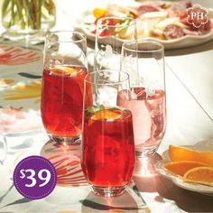 From #IcedTea to #sangria, these elegant #beverage #glasses elevate drinks for every occasion! Alcoholic Drinks, Beverages, Princess House, Iced Tea, Lemonade, Table Settings, Healthy, Ecommerce, Beautiful