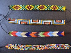 Diy Jewelry, Beaded Jewelry, Jewelery, Beaded Bracelets, Bead Loom Patterns, Beading Patterns, Creative Crafts, Diy Crafts, Loom Beading