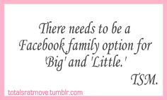yeah, because every time I go to get on my little's facebook, I try typing it in the search bar