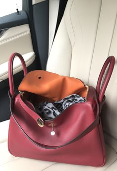 a5986dd560de Hermes Lindy 30 rouge grenat and orange with permabrass hardware.