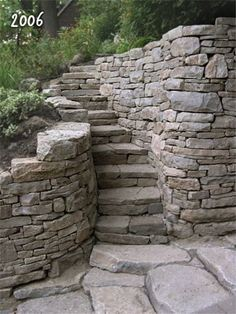 Image result for log cabin half wall stairs stone