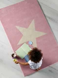 Star Rug - Pink     Cox & Cox