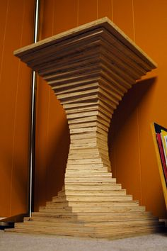 plywood table top | Each square can be rotated and the whole piece can be disassembled and ...