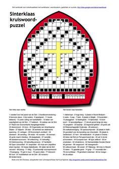 Kruiswoordpuzzel in #mijter van #Sinterklaas