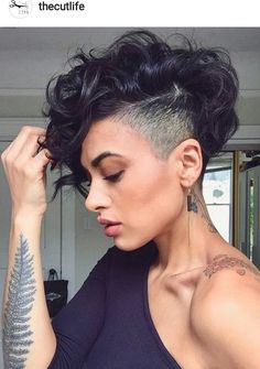 26 best curly mohawk hairstyles images  hair colors