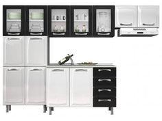Cozinha Compacta Itatiaia Premium com Balcão - 13 Portas 4 Gavetas Aço
