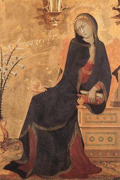Annunciazione, Simone Martini, Madonna.