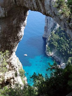 The natural arch on Capri Island, Italy