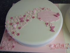 Twin Christening Cakes