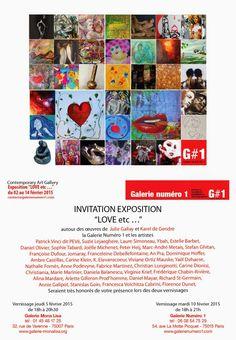 """Exposition à thème  « LOVE etc… », organisée par la Galerie Numéro 1,  « L'amour n'est pas seulement un sentiment, il est un art aussi. » Honoré de Balzac, La recherche de l'absolu.  De l'""""Amour divin et amour profane"""" du Titien au """"je t'aime moi non plus"""" de Gainsbourg, de l'amour platonique à l'amour vache, de Tristan et Yseult à Bonnie and Clyde, de Casanova à Sade, depuis la cour faite à l'être aimé au drame amoureux, en passant par le baiser langoureux ou le libertinage, l'amour a…"""