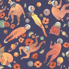 Space Ladies Pattern on Behance