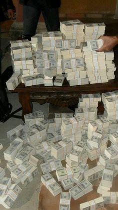 Money stacks, Show me the money, Money affirmations