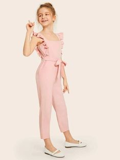 Kids Dress Wear, Dresses Kids Girl, Cute Girl Outfits, Kids Outfits Girls, Girls Fashion Clothes, Tween Fashion, Fashion Dresses, Tween Mode, Jumpsuits For Girls