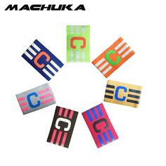 MACHUKA Football Elastic Fabric Captain Armband Stripe Hockey Rugby Sports Adjustable Games Tournament Soccer Skippers Armbands #Affiliate