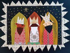 Line Frøslev: De tre vise mænd-collage Christmas Art, Christmas Projects, Diy For Kids, Crafts For Kids, Collage, Time Kids, Old Postcards, Art Plastique, School Fun