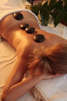 Hot Stone Massage Treatment. My favorite massage along with CranioSacral and Polarity Therapy. Ahhhh...