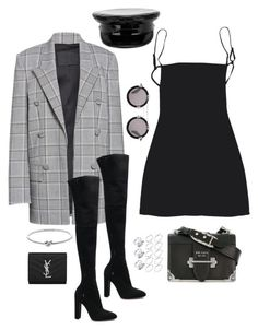A fashion look from January 2018 by featuring Alexander Wang Gianvito Rossi Prada Yves Saint Laurent Michael Kors ASOS Manokhi and Yohji Yam. Look Fashion, Korean Fashion, Winter Fashion, Fashion Women, Fashion Styles, Mode Outfits, Winter Outfits, Fashion Outfits, Fashion Tips