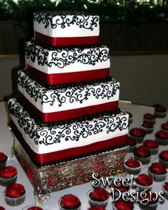 Love red and black and white for wedding!