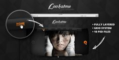 Lookatme - PSD Templates by thematek Lookatme is multipurpose website PSD template for creative model agency. Lookatme comes with 10 PSD files and in 960 grid based. D