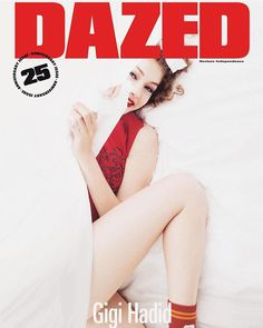 Cover girl: This month, she also appears on the cover of the 25th anniversary issue of Dazed magazine