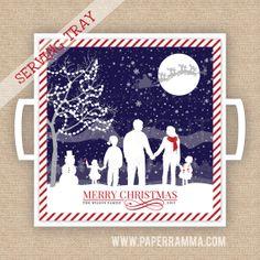 Christmas Family Keepsake Tray // Christmas Gift // by PaperRamma, $65.00