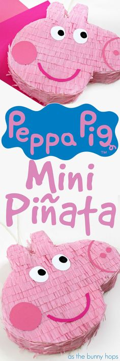 Make your own Peppa Pig Piñata with these easy to follow instructions and Peppa Pig template! It's the perfect party decor for a Peppa Pig birthday party theme!