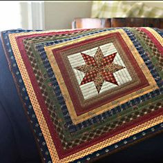 LeMoyne Star Medallion Quilt by PetitQuilts on Etsy, $50.00