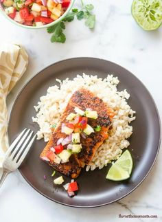 Blackened Salmon with Pineapple Salsa   - CountryLiving.com