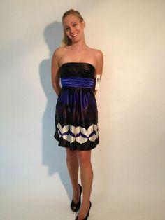 Jump Girl Bandeau Empire Waist Cocktail Dress Black/Blue, size 7/8 $39.99 www.darlingdiscounts.com