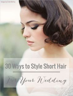 wanna give your hair a new look ? Short Wedding Hairstyles is a good choice for you. Here you will find some super sexy Short Wedding Hairstyles, Find the best one for you, Bridal Hair And Makeup, Bridal Beauty, Wedding Beauty, Wedding Makeup, Hair Makeup, Eye Makeup, Pretty Hairstyles, Wedding Hairstyles, Corte Y Color