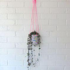 DIY rope basket plant hanger, Gemma Patford