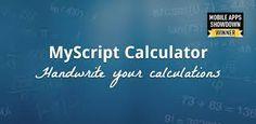 """Patricia Ortiz acaba de crear un pin muy interesante respecto a MyScript Calculator - Una app """"mágica"""" para realizar operaciones matemáticas, no te lo pierdas."""
