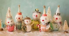 Etsy Shop Feature and a studio tour~ (the adventures of bluegirlxo) Vintage Christmas Crafts, Primitive Christmas, Retro Christmas, Christmas Snowman, Handmade Christmas, Holiday Crafts, Christmas Holidays, Christmas Gifts, Christmas Decorations