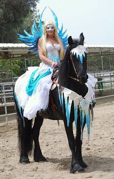 Costumes Made for Horses | Ice Angel on Horseback | Flickr - Photo Sharing!