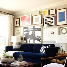 Em Henderson resource on hanging art above sofa or headboard