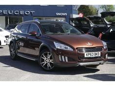 Used 2013 (63 reg) Brown Peugeot 508 Rxh 2.0 e-HDi Hybrid4 5dr EGC for sale on RAC Cars