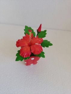 #Hibiscus #flowers #Thai clay #Thai #Clay #ceramic #orchids #handmade #craft # Bonsai #pink # realistic #flower