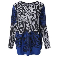 Cucharada casual de cuello Impreso de manga larga Prendas de punto para las mujeres para Vender - La Tienda En Online IGOGO.ES