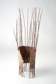 Sipapu by Meg Viney. Land Art, Twig Art, Organic Art, Paperclay, Weaving Art, Nature Crafts, Art Plastique, Wood Sculpture, Textile Art