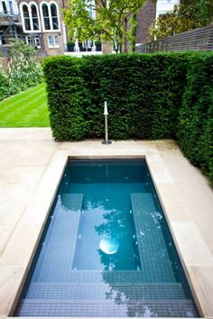 A swimming pool is one of the favorite places to refresh our mind. It is no wonder that people will seek the resort with modern and luxurious swimming pool to spend their vacation. A nice swimming pool design will require . Small Swimming Pools, Small Backyard Landscaping, Small Pools, Swimming Pools Backyard, Swimming Pool Designs, Lap Pools, Indoor Pools, Indoor Swimming, Backyard Designs
