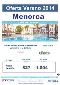 Menorca - Oferta Hotel Prinsotel La Caleta, salidas 9 y 30 Julio desde Santiago ultimo minuto - http://zocotours.com/menorca-oferta-hotel-prinsotel-la-caleta-salidas-9-y-30-julio-desde-santiago-ultimo-minuto/