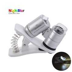 60x Zoom Universal Cell Phone Loupe Microscope Lens Magnifier Micro Camera For iPhone 6 5S 4S Samsung Holder Color Random //Price: $3.82//     #onlineshop