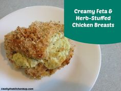 Creamy Feta and Herb-Stuffed Chicken Breasts {Easier than it sounds!} - Kelly the Kitchen Kop Healthy Eating Recipes, Real Food Recipes, Chicken Recipes, Duck Recipes, Paleo Meals, Healthy Dinners, Cheese Recipes, Yummy Food, Boneless Chicken Breast