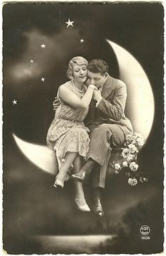 vintage paper moon couple
